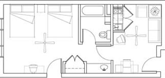 2 Queen Suite floorplan