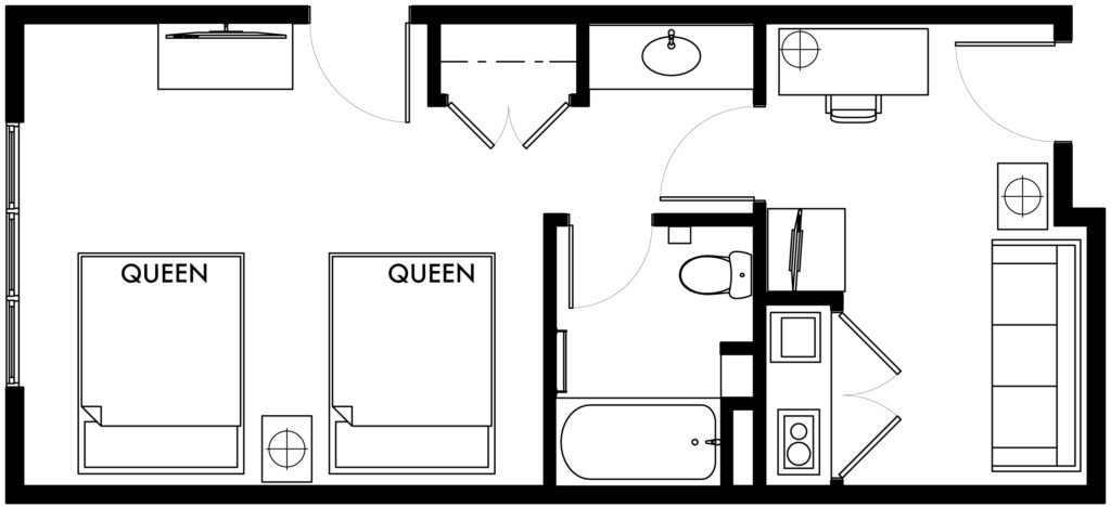 1-Bedroom-suite-2Q-kitchen (6)